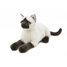 Siamese Plush Cat Lying 34cm